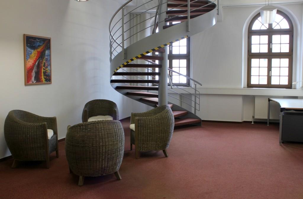 Eingangsbereich der Bibliothek